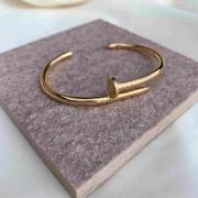 Bracelete prego liso banhado em ouro 18k