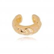 Piercing de encaixe banho em ouro 18k argola design amassado