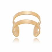 Piercing de encaixe banho em ouro 18k argola lisa vazada
