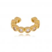 Piercing de encaixe Lala zircônia redondinha banhado a ouro18k
