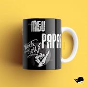 Caneca - Meu pai rock roll