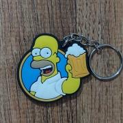 Chaveiro Borracha - Homer Simpson