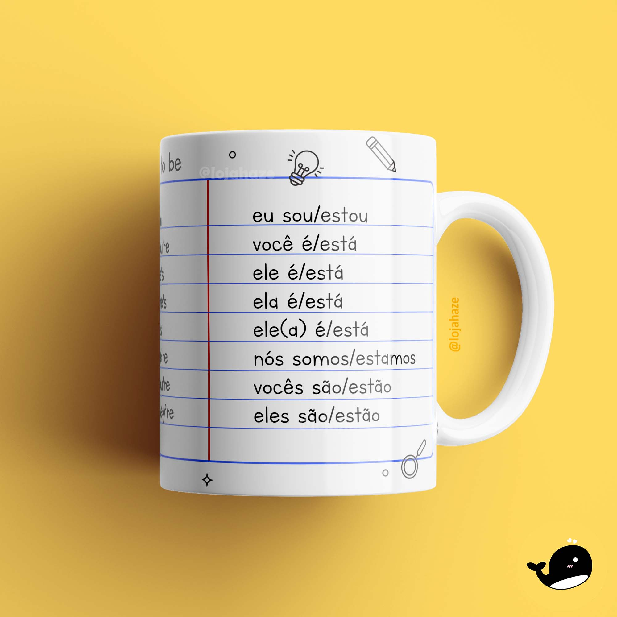 Caneca - Verbo To Be