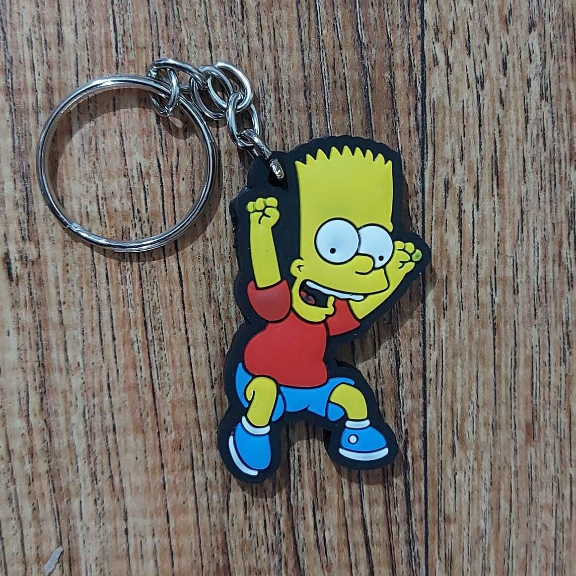 Chaveiro Borracha - Bart Simpson