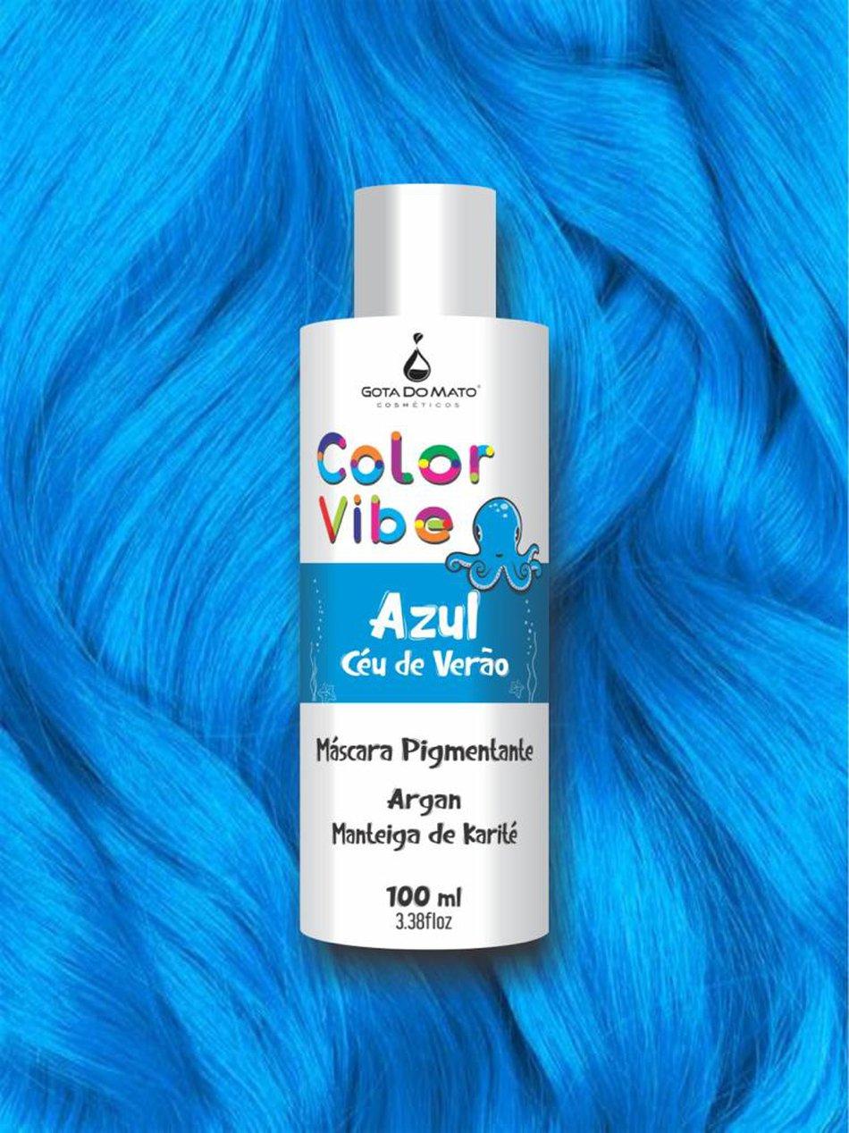 Mascara Pigmentante Color Vibe - Azul Céu de Verão 100ml