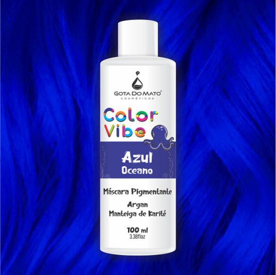 Mascara Pigmentante Color Vibe - Azul Oceano 100ml