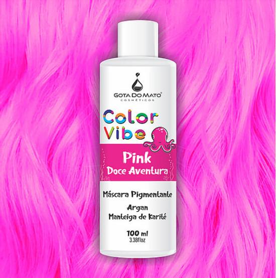 Mascara Pigmentante Color Vibe - Pink Doce Aventura 100ml