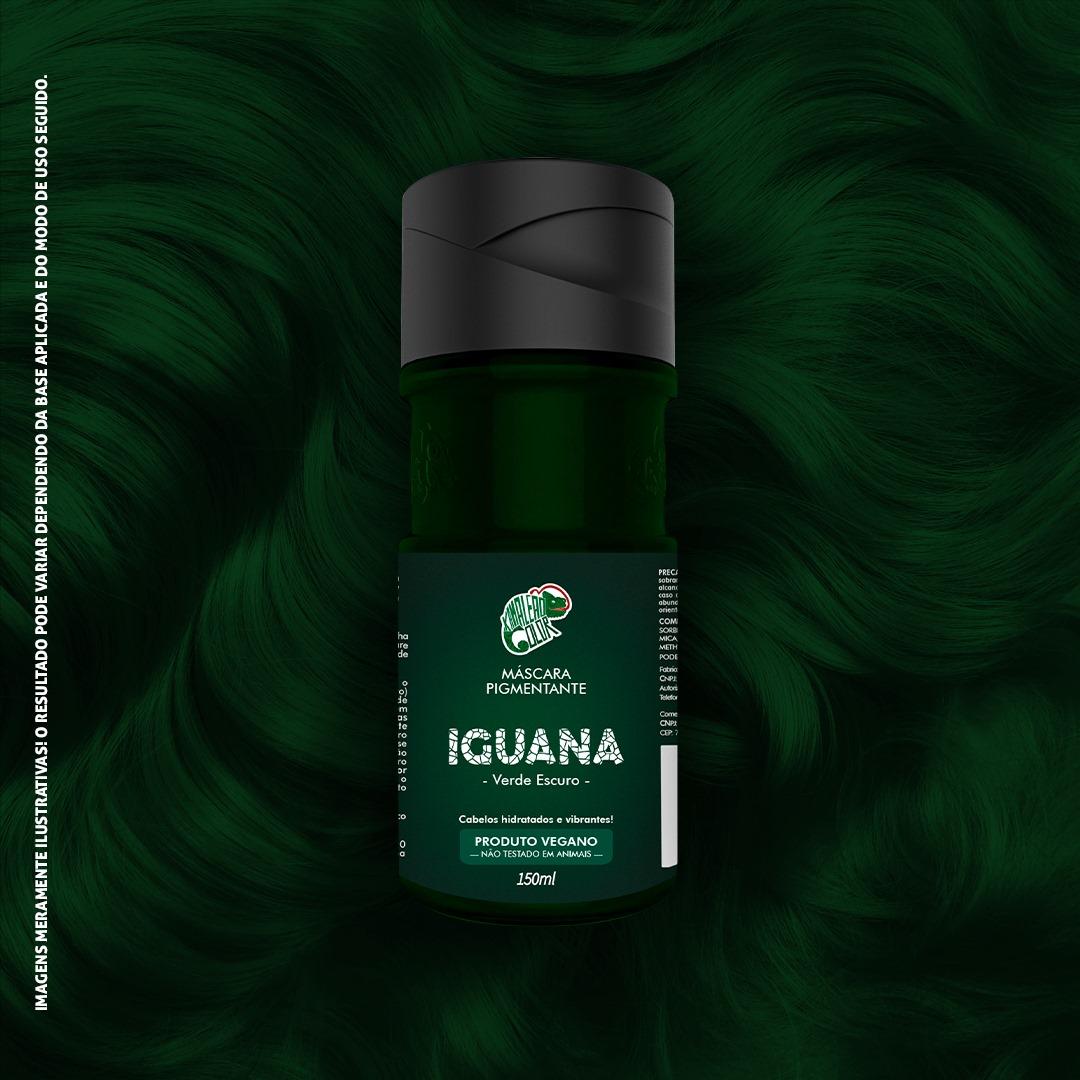 Tonalizante Kamaleão - Iguana 150ml - Verde Escuro
