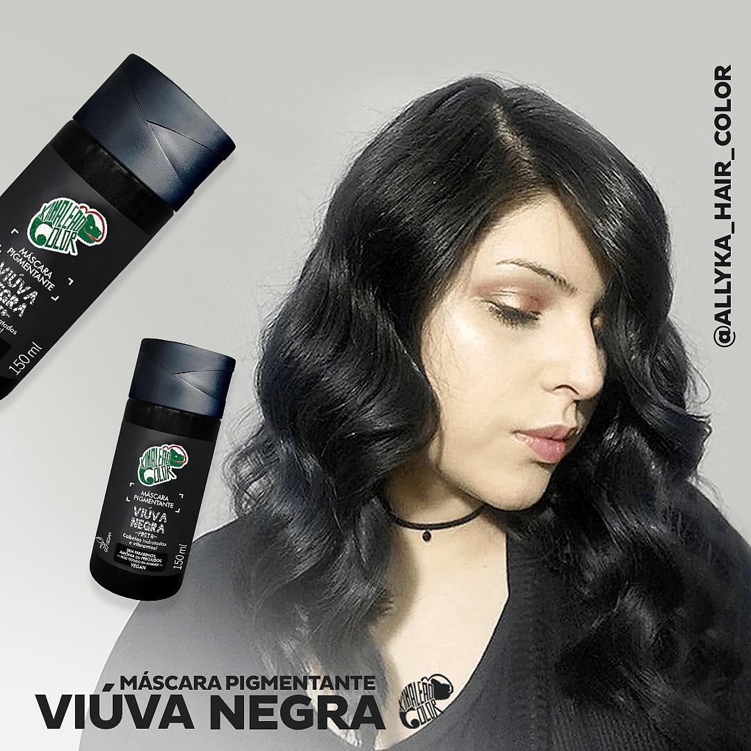 Tonalizante Kamaleão - Viúva Negra 150ml - Preto