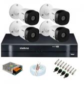 Kit Intelbras 04 Cameras HD 720p VHL 1120Bullet + DVR 1104 Intelbras + Acessórios