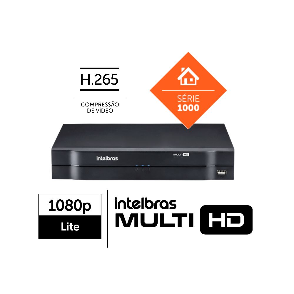 Dvr Multi HD C/ 04 Portas MHDX 1104 Intelbras