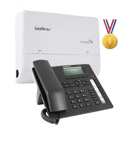 Kit Central Pabx Modulare+ 02 Linhas - 04 Ramais + 1.Terminal Executivo Te 220