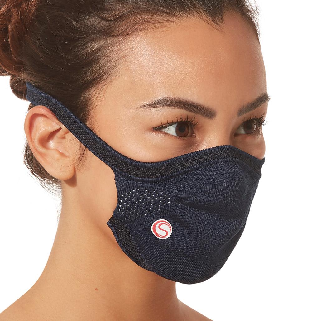 Máscara Protetora Infantil Azul Marinho Cia Do Sono