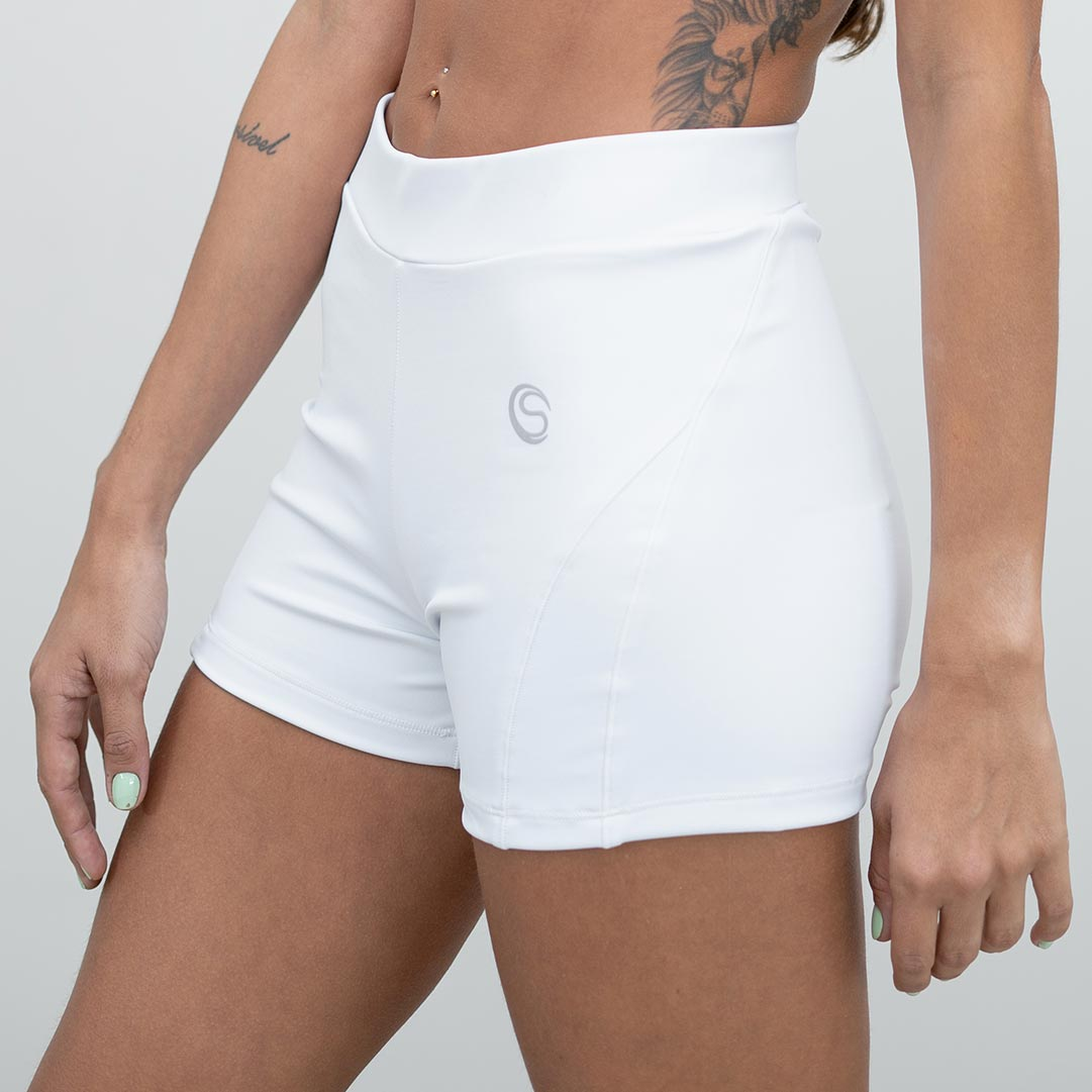 Short Fitness Branco com Infravermelho Longo e High Compression Cia Do Sono