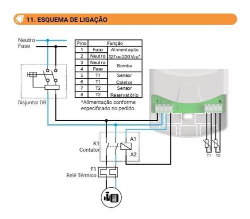 Controlador Por Diferencial De Temperatura Para Piscinas Mmz 220vca