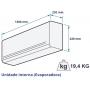 Evaporadora Springer 30.000 Btu Modelo 42maqa30s5 - Quente Frio Fixo