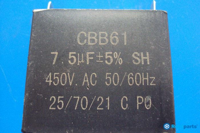 Capacitor 7,5 Mf 450vac