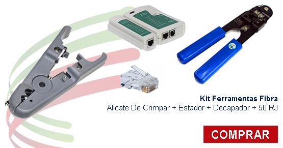 kit ferramentas fibra alicate de crimpar estador decapador decapador 50 rj