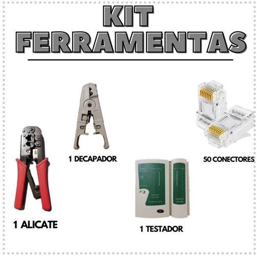 ALICATE DE CRIMPAR+TESTADOR+DECAPADOR+50RJ FIBRA