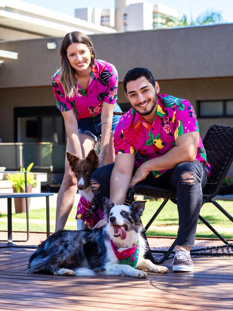 Bandana Pet Tucano Pink  - Carmelina.com.br