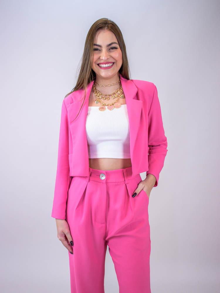 Blazer Curto Chiclete  - Carmelina.com.br