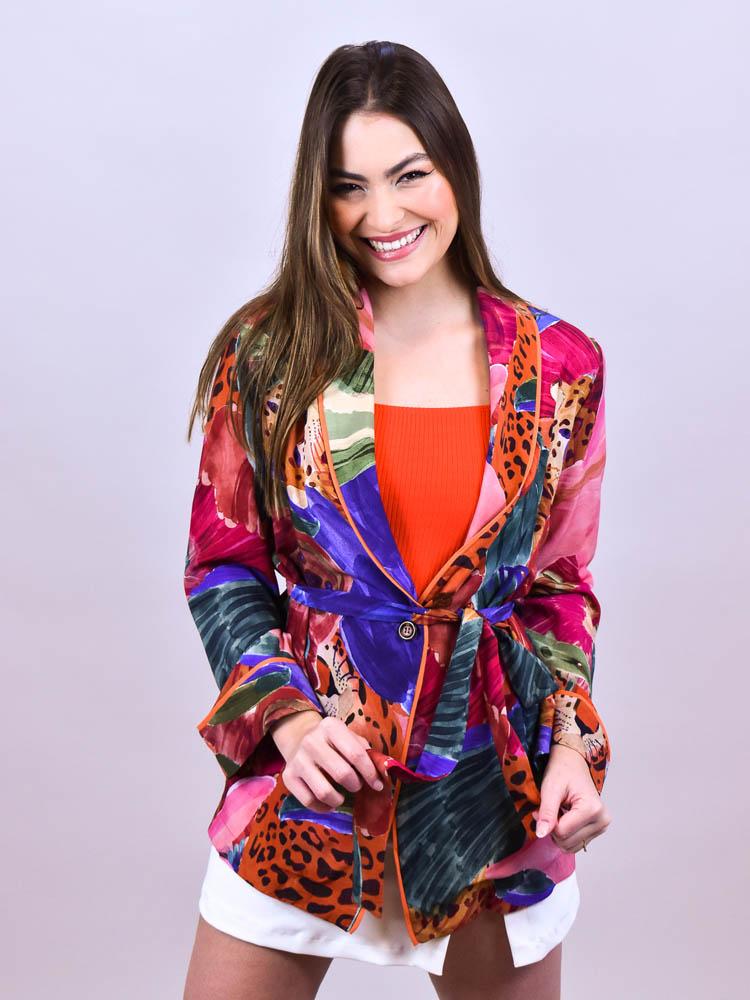 Blazer Farm Pijama Doce Fauna  - Carmelina.com.br