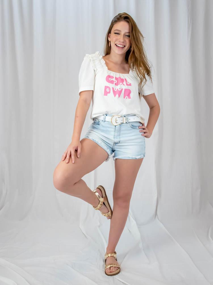 Blusa Girl Power  - Carmelina.com.br