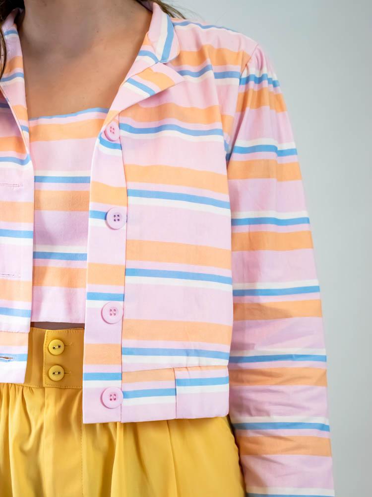 Blusa Listra Color Coral  - Carmelina.com.br