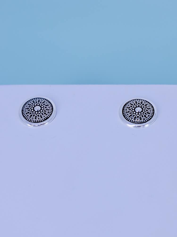 Brinco Mini Mandala  - Carmelina.com.br