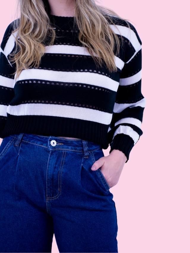 Calça Jeans Pregas  - Carmelina.com.br