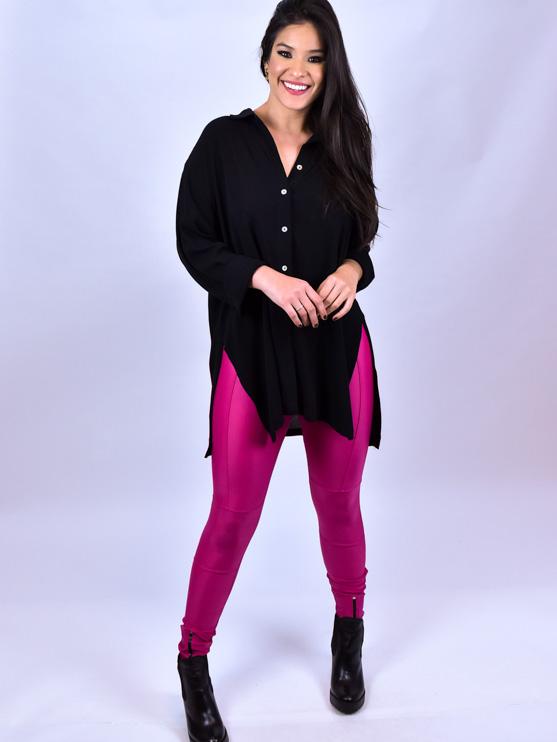 Calça Legging Zíper Pink