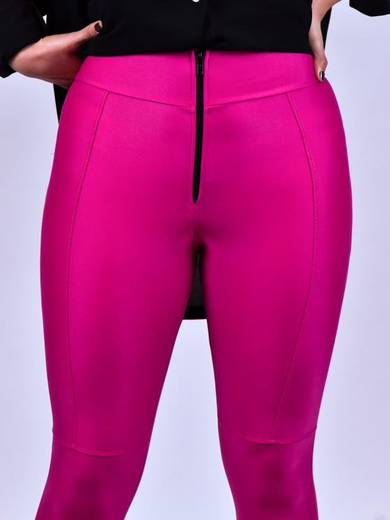 Calça Legging Zíper Pink  - Carmelina.com.br