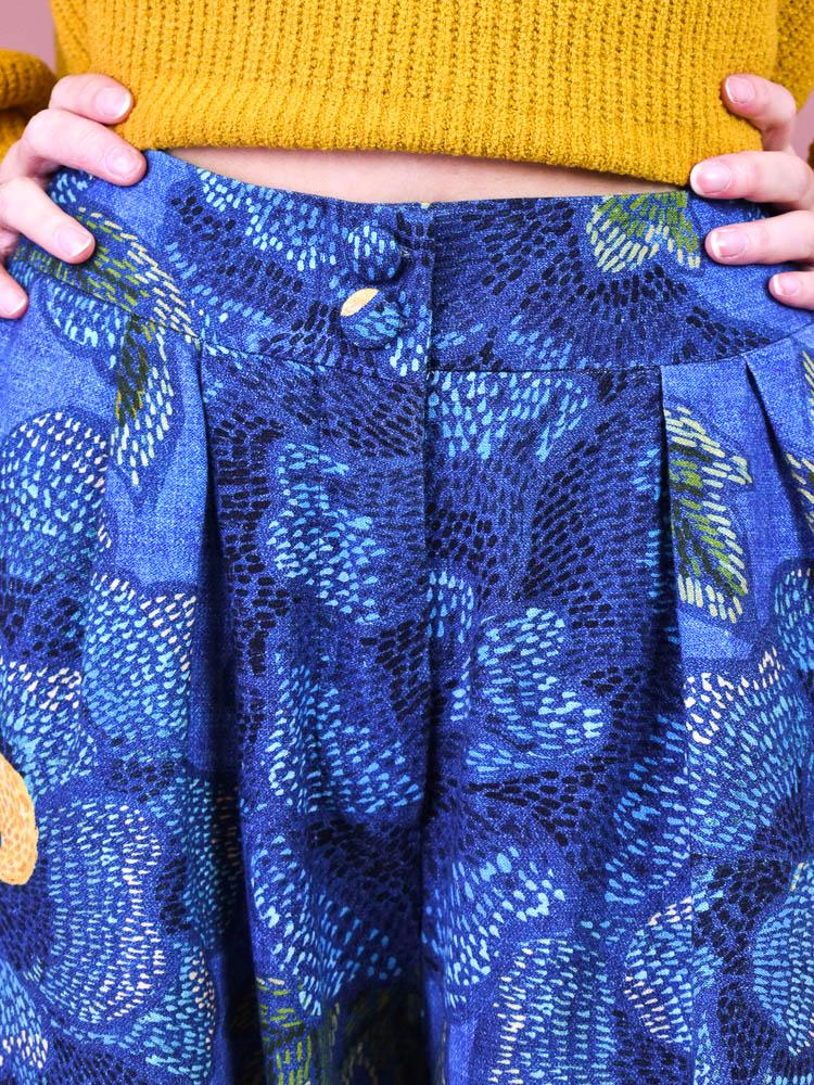 Calça Pantalona Farm Floral Alicia  - Carmelina.com.br