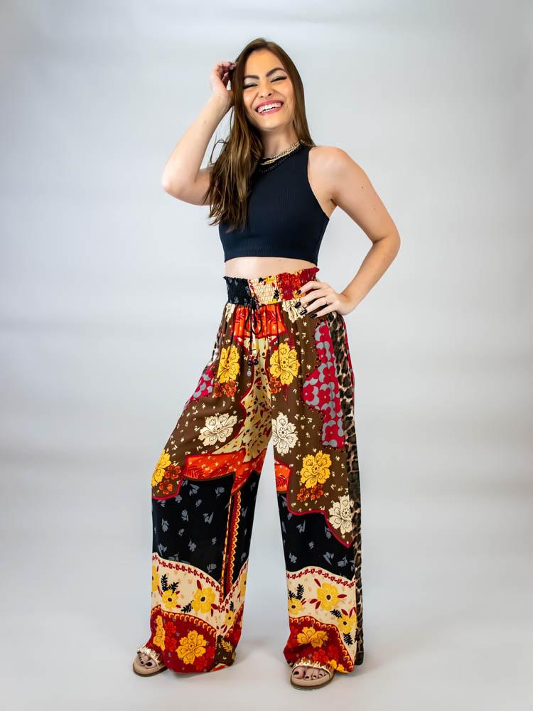 Calça Pantalona Helena Boho