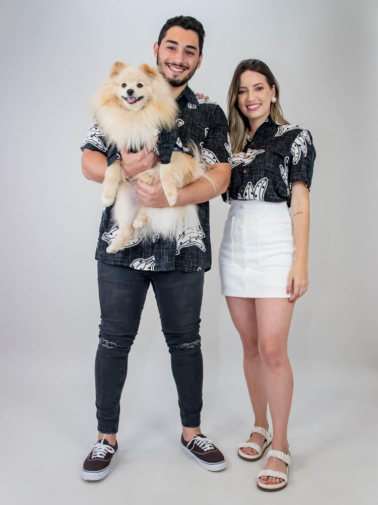 Camisa Pet Banana Preto  - Carmelina.com.br
