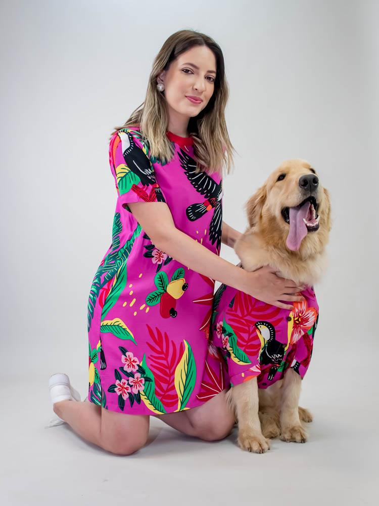 Camisa Pet Tucano Pink  - Carmelina.com.br