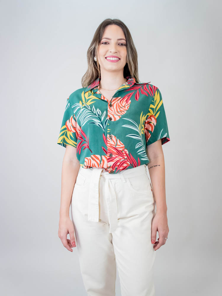 Camisa Sasha Folhagem Verde