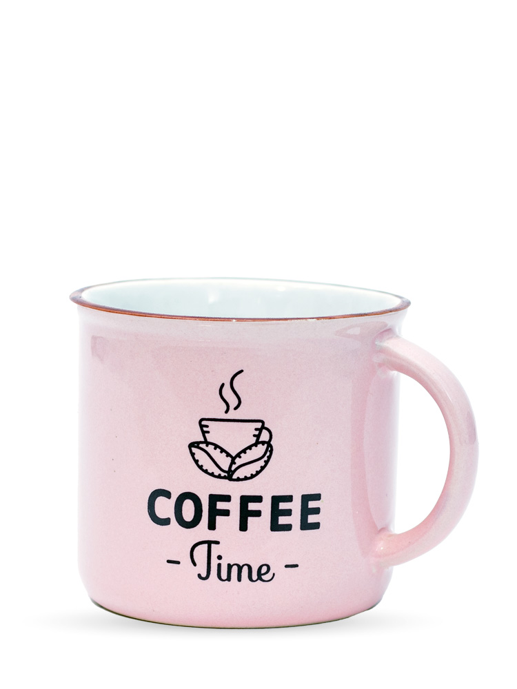 Caneca Coffe Rosê   - Carmelina.com.br