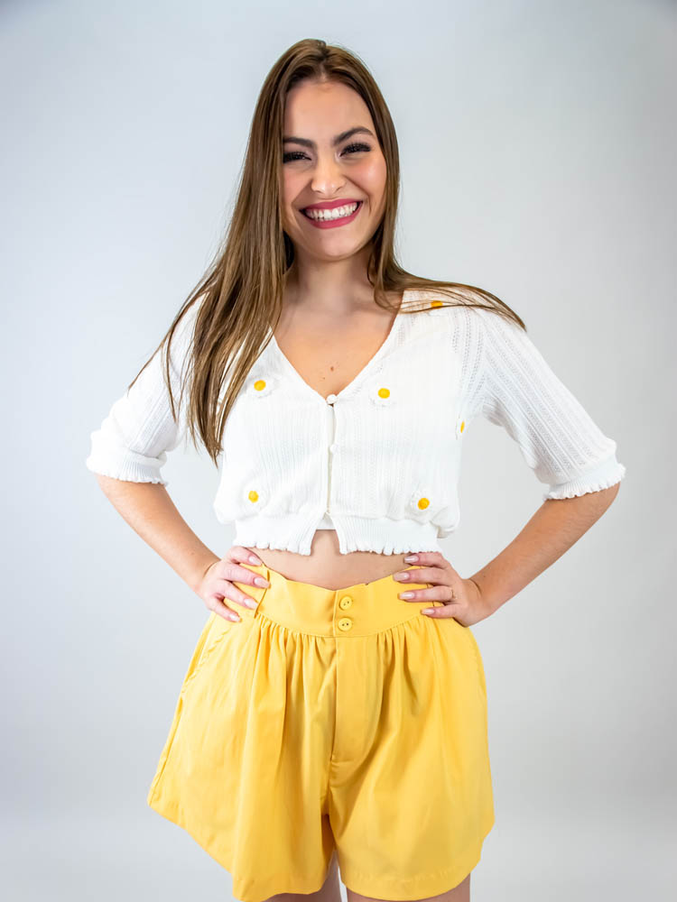 Casaquinho Margaridas  - Carmelina.com.br