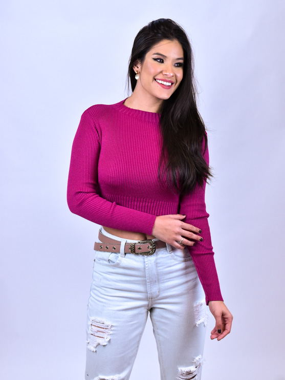 Cinto Bolinha Rosê   - Carmelina.com.br