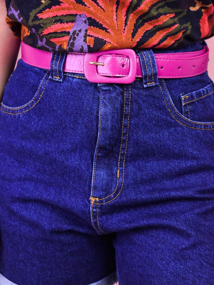 Cinto Colorido Pink   - Carmelina.com.br