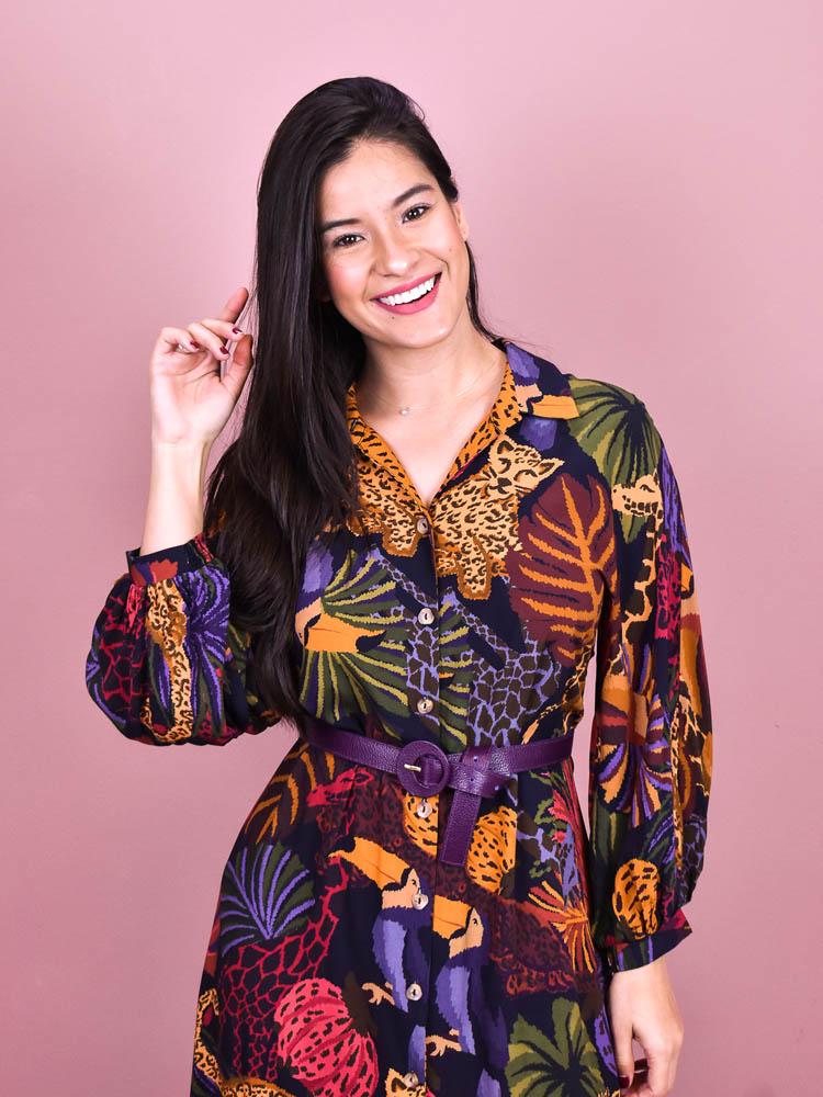 Cinto Colorido Roxo  - Carmelina.com.br