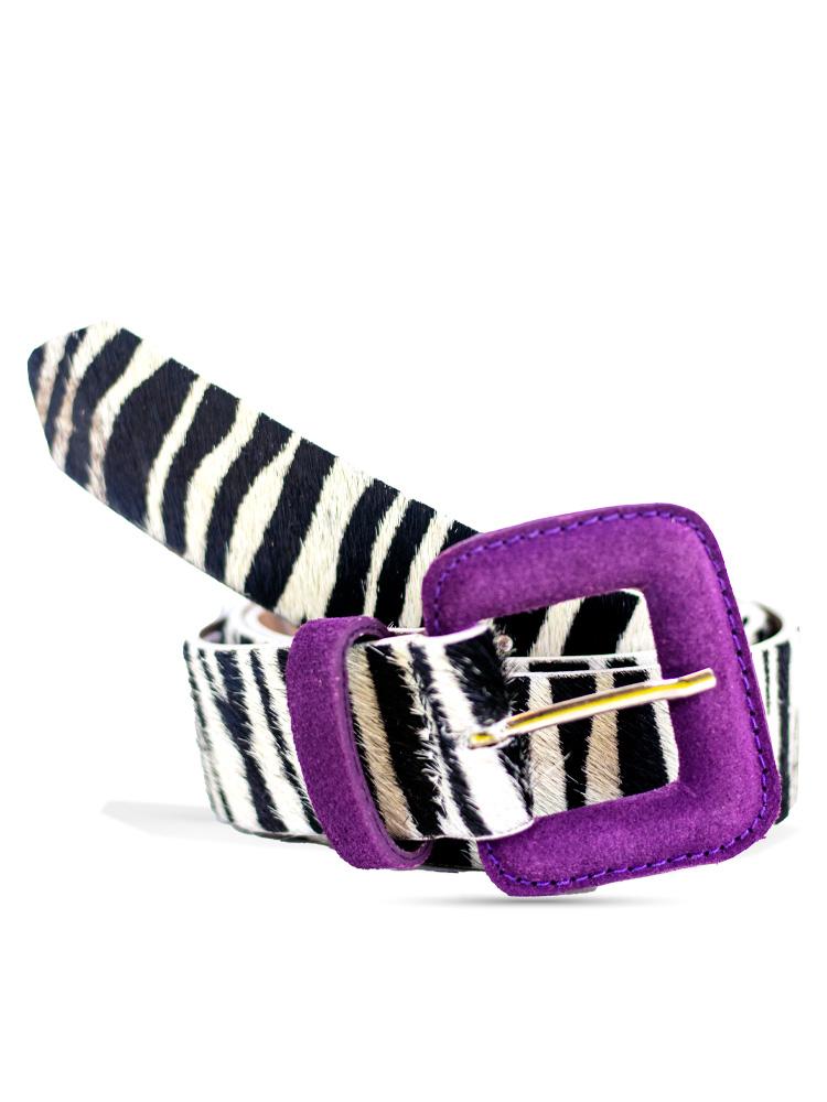 Cinto Zebra Fivela Roxo
