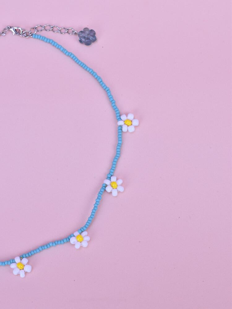 Colar Margarida Pequena Azul