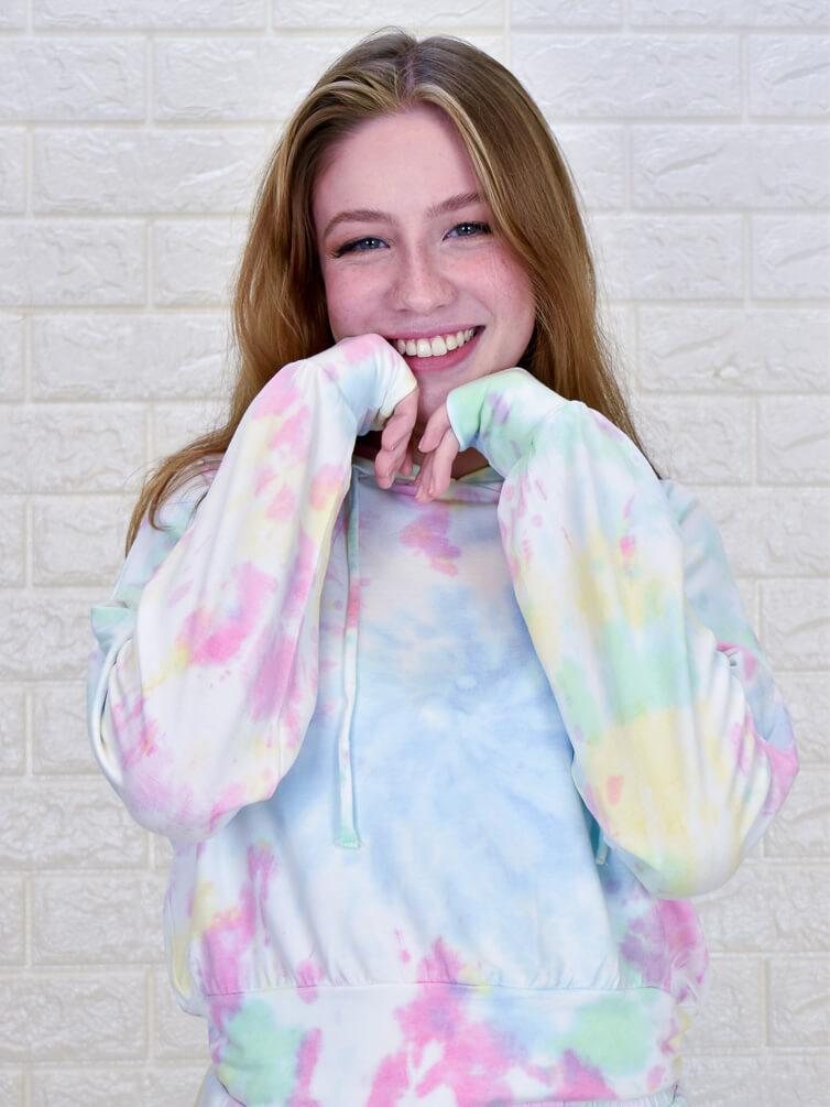 Conjunto Tie Dye Capuz  - Carmelina.com.br
