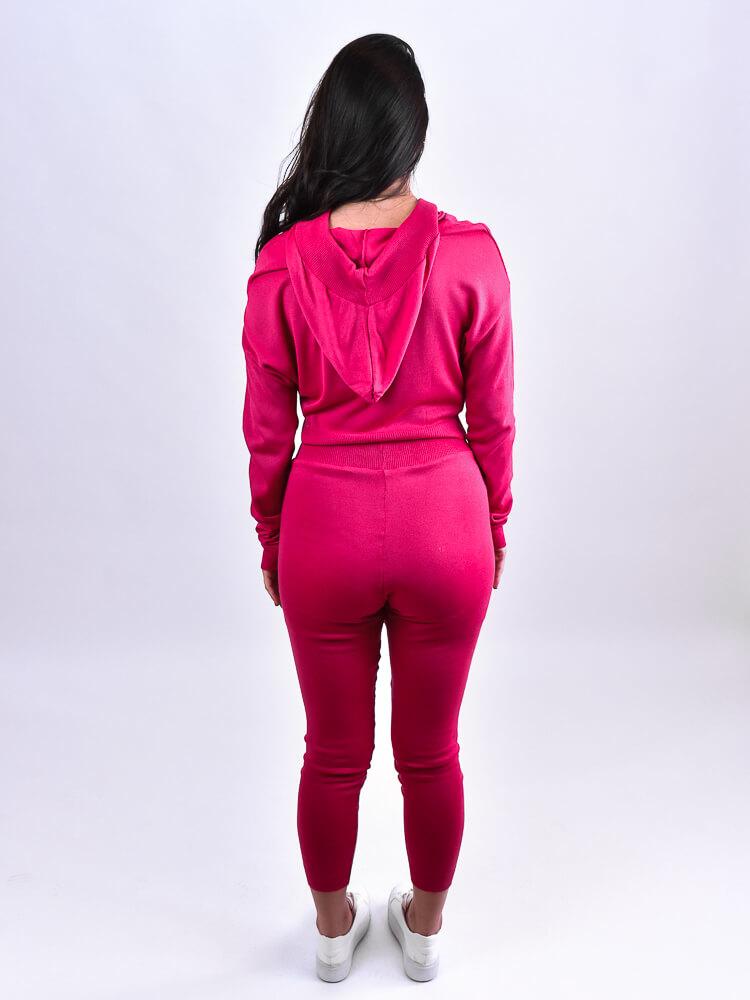 Conjunto Tricot Capuz Pink  - Carmelina.com.br