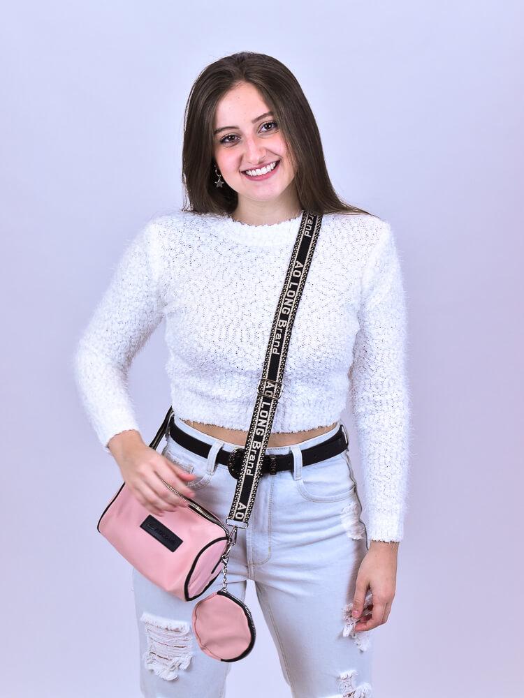 Cropped Carapinha Branco  - Carmelina.com.br