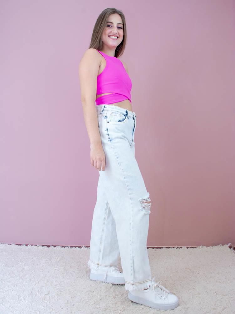 Cropped Cruzado Pink