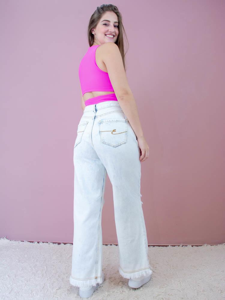 Cropped Cruzado Pink  - Carmelina.com.br