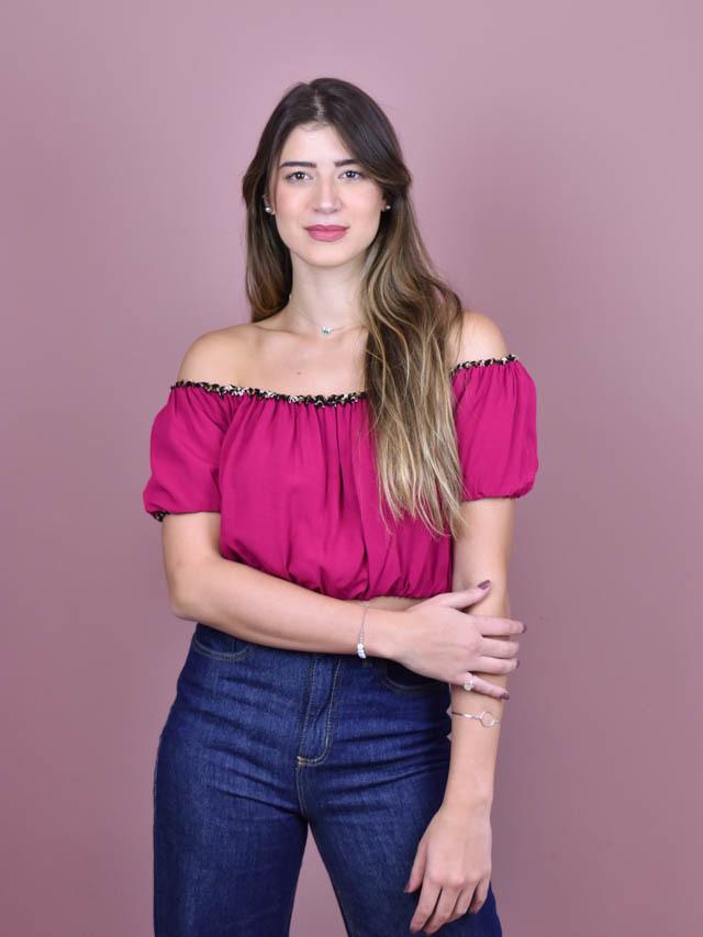 Cropped Dupla Face Pink  - Carmelina.com.br